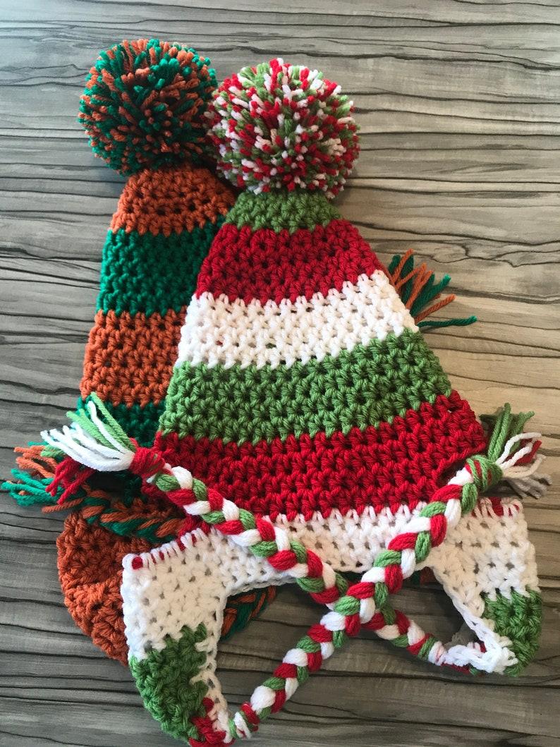 Crochet Dog Pompom Hats one size for medium to large breeds  image 0