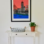 Hand-painted Bostonian 24x36 FRAMED