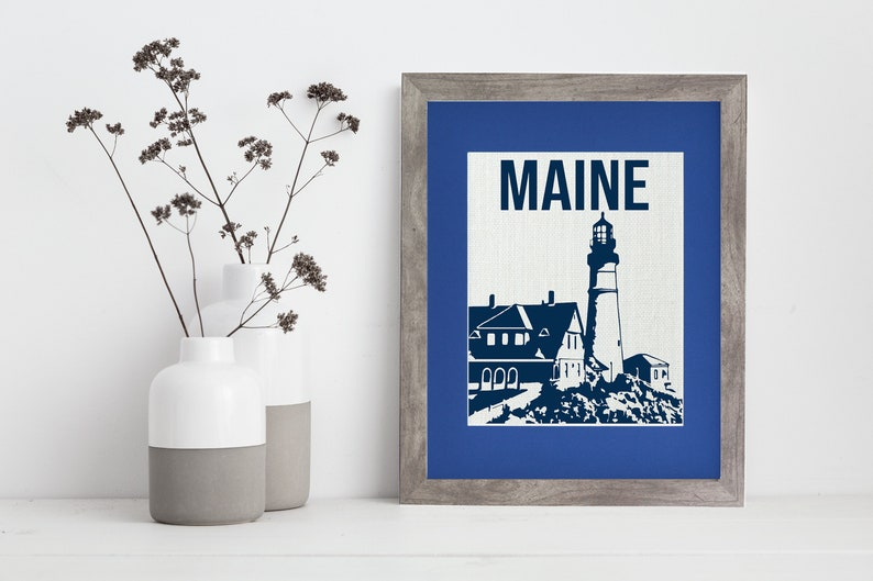 Maine Lighthouse  Fort Williams l Framed or Unframed  Wall image 0