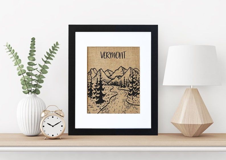 Vermont Mountains  Framed or Unframed  Wall Art   Travel  image 0