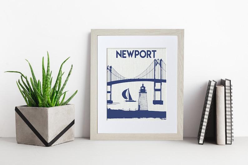 Newport Lighthouse  Rhode Island  Framed or Unframed  Wall image 0