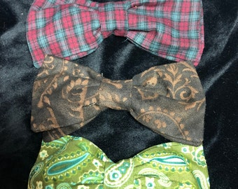 bow ties, cardigan clips, unisex, clip on, sweater clips you choose