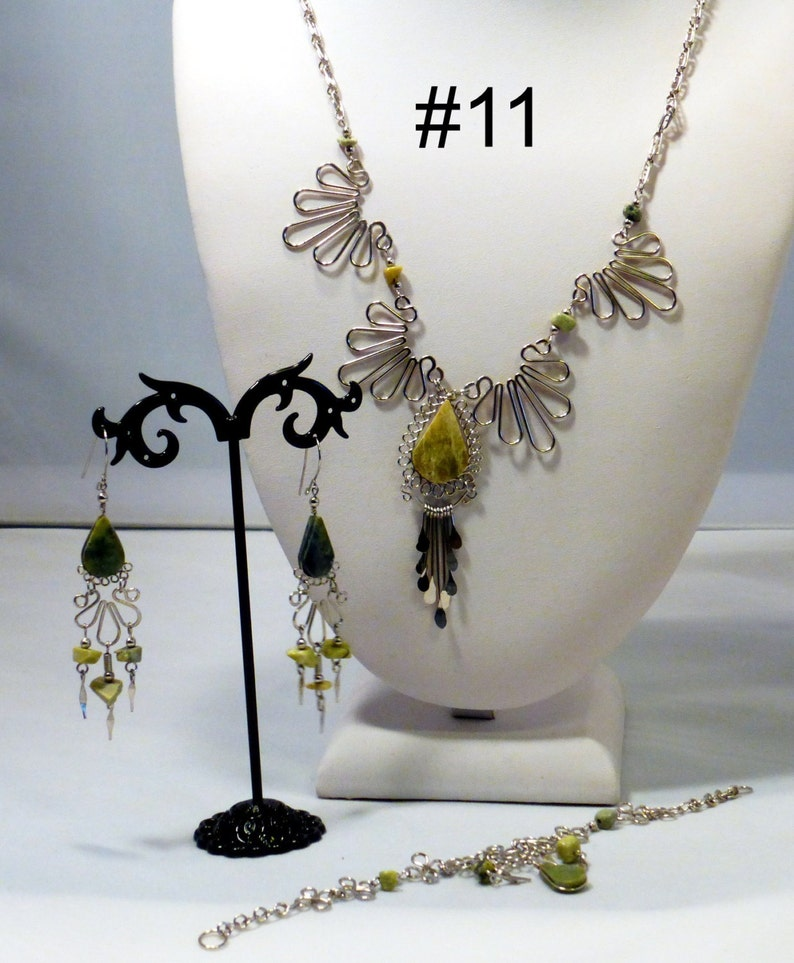 Necklace sets earrings bracelets you choose semi precious image 0