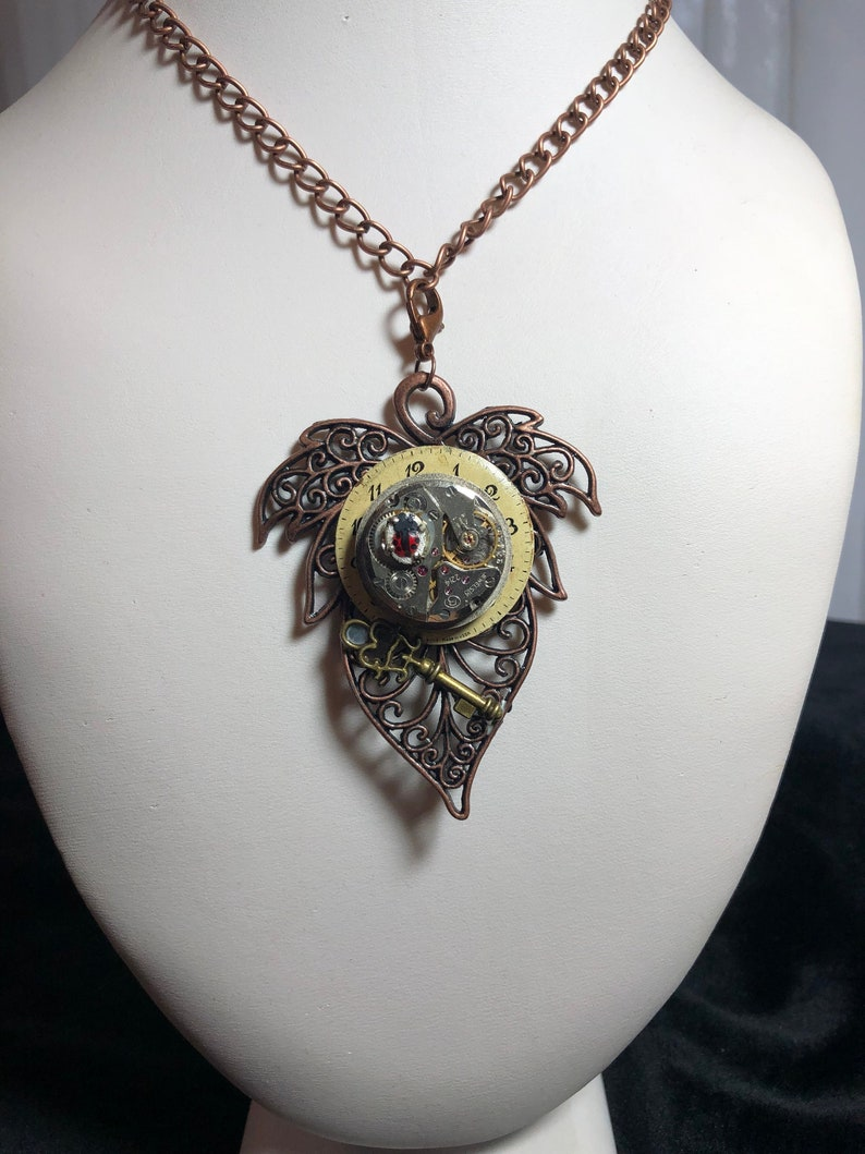 jewelry Goth Renascence steampunk necklace copper chain image 0