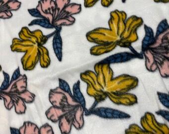 Fleece Socks, Slippers, Boot liners, FLOWER PRINT Unisex