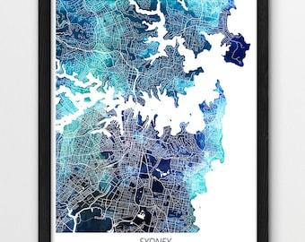 Melbourne Map Print Melbourne City Poster Print Melbourne | Etsy