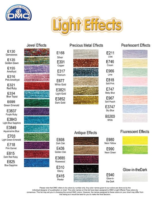 DMC 317W-E168 Light Effects Polyster Embroidery Floss 8.7-Yard Silver
