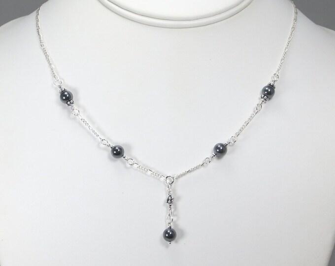 Hematite Necklace - 6mm