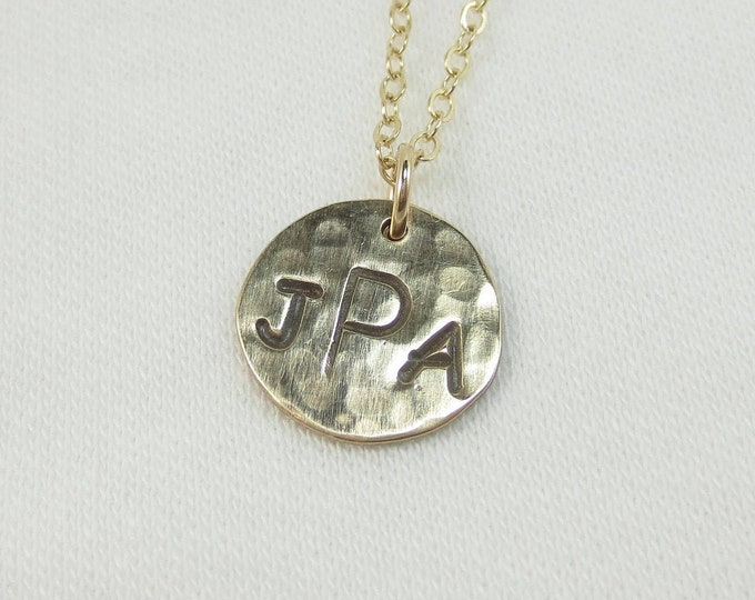 3 Initial Necklace