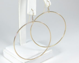 Gold Hoop Earrings -  2""
