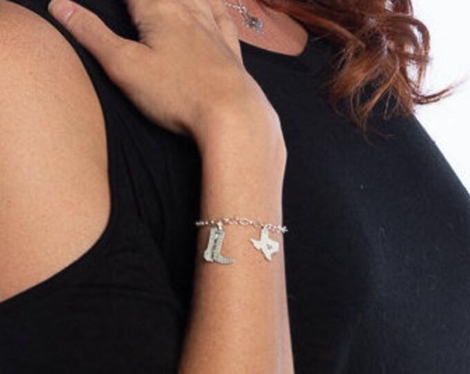 Texas Charm & Boot Charm Bracelet