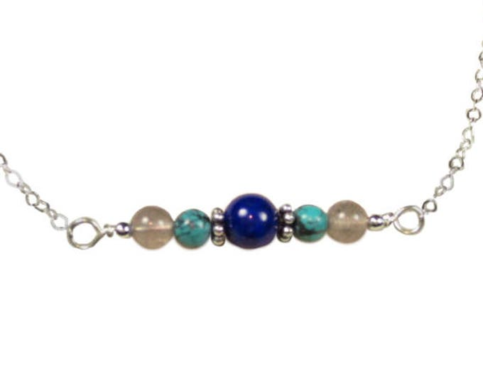 Turquoise with Lapis & Labradorite Necklace