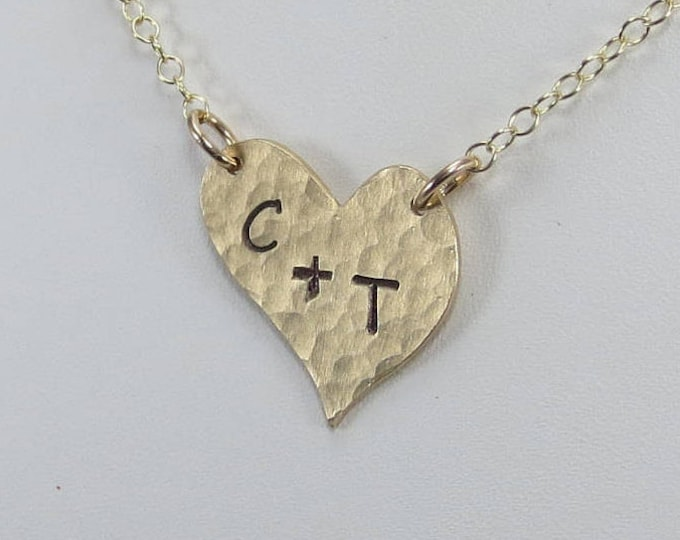 Initials On Your Heart Necklace