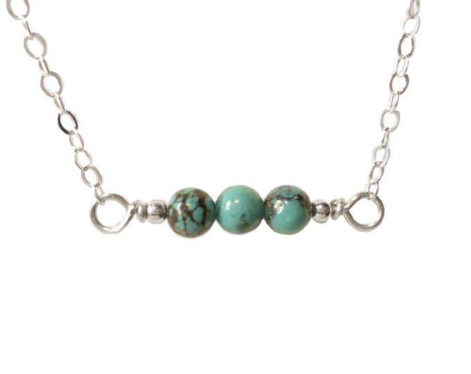 Horizontal Turquoise Necklace - 4mm