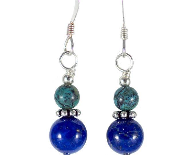 Turquoise & Lapis Lazuli Earrings