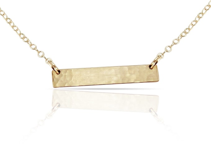 Gold Blank Bar Necklace