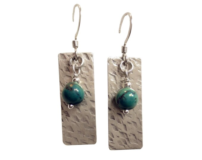 6 mm Bead on Hand Hammered Texture #5 Earrings