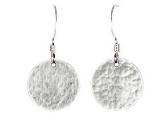 Silver Circle Earrings - 1/2 inch