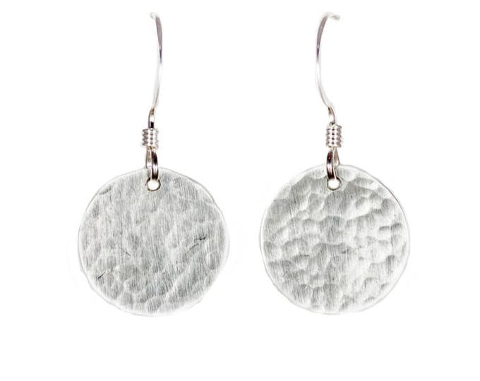 Silver Circle Earrings - 1/2 inch