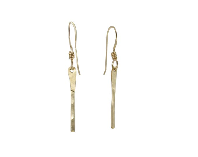 Bar Earrings - Gold or Silver