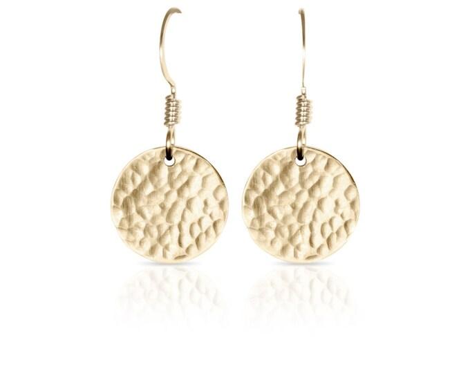 14k Gold Fill Disc Earrings - 1/2 inch