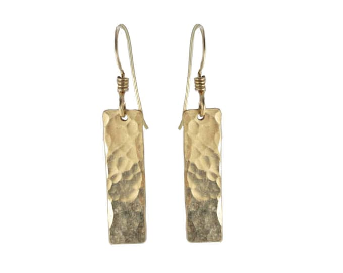 Hand Hammered Texture #6 Earrings