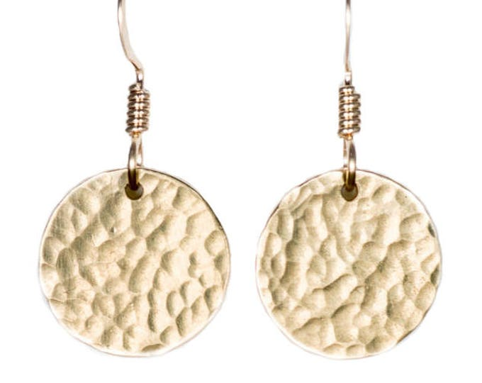 Gold Circle Earrings - 1/2 inch