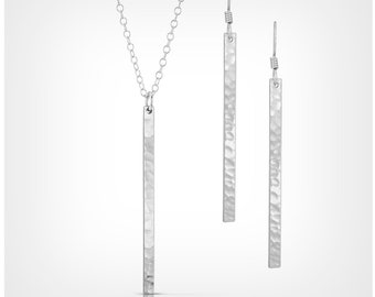 Silver Bar Jewelry Set