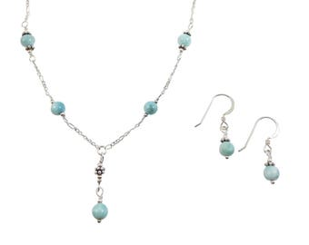 Larimar Jewelry Set - 6mm