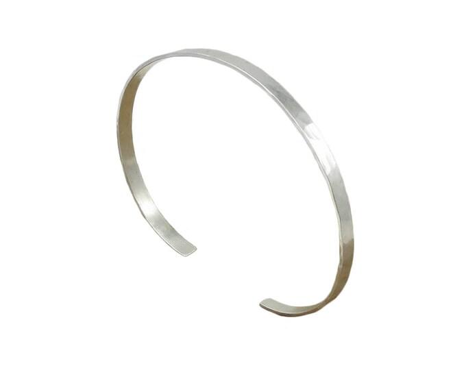 Silver Cuff Bracelet - 3mm