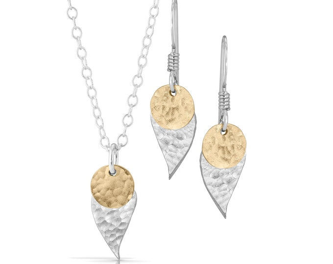 Leaf & Disc Jewelry Set