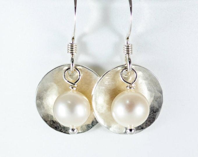 Disc & Bead Earrings