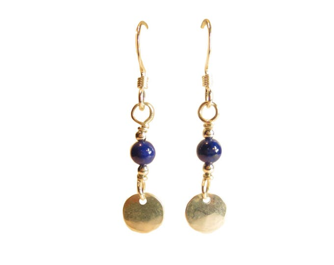 Dainty Bead & Disc Earrings
