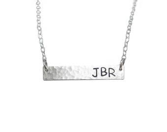 3 Initials Bar Necklace