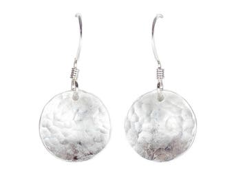 Silver Domed Earrings