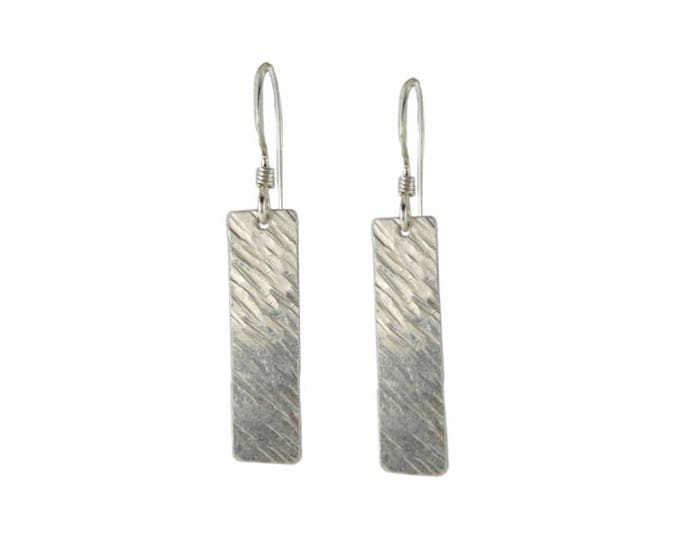 Bar Rectangle Earrings - Texture #1