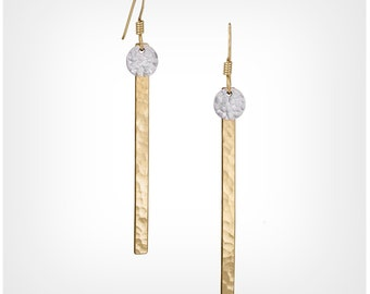 Dot Skinny Bar Earrings - GF & SS