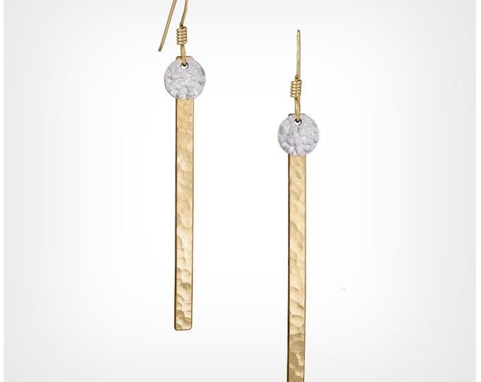 Dot Skinny Bar Earrings - GF & SS