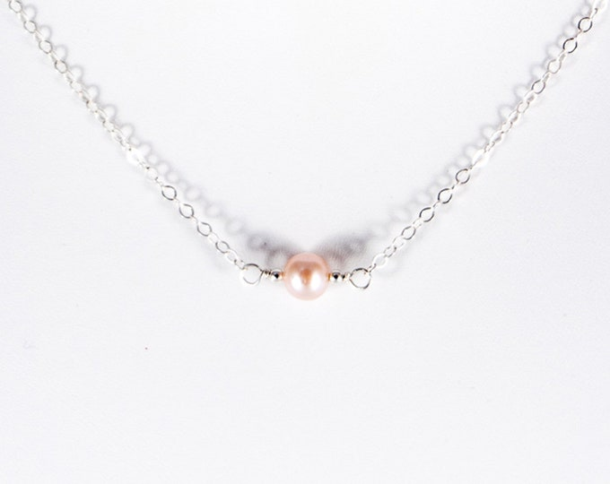 L'amour Necklace - Fresh Water Pink Pearl