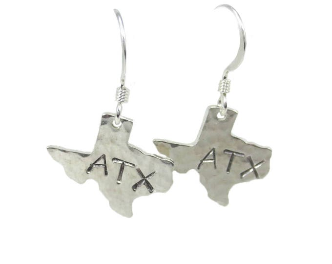 Texas ATX Charm Earrings - Silver and Gold
