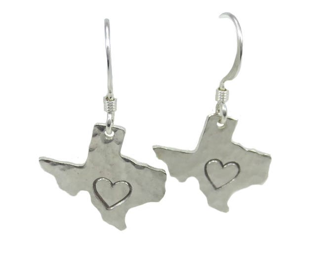 Texas Heart Charm Earrings