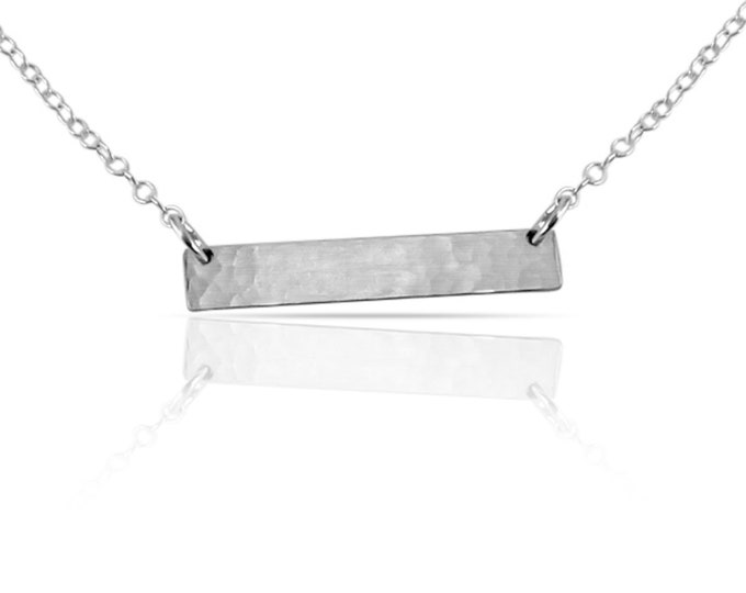 Silver Blank Bar Necklace