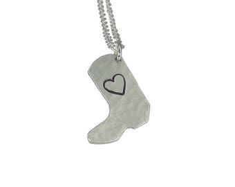 Boot Charm Necklace