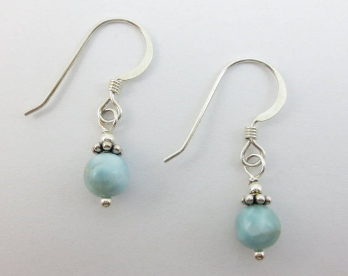 Sky Blue Larimar Earrings