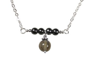 Labradorite & Hematite Necklace