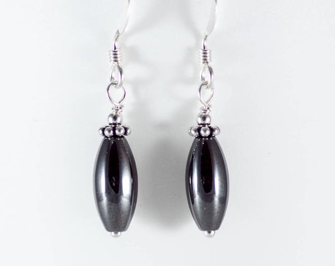 Hematite Oval Earrings