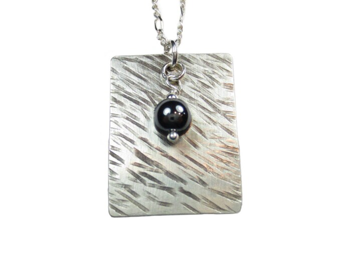 Texture #1 - Dogtag Necklace - Boho Jewelry