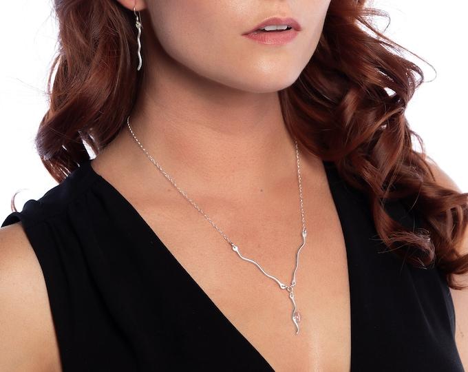 Wave Necklace & Earrings
