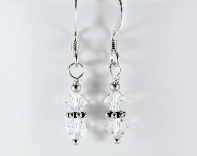 Crystal Earrings - 4mm Stacked