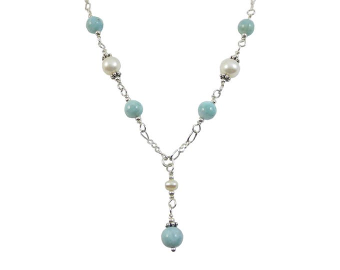 Larimar & Pearl Necklace